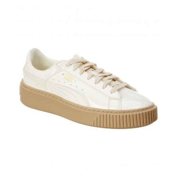 1f0684a2b9f8 PUMA Basket Platform Marshmallow Patent Women Shoe
